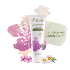 'Avenil' Skin Body Sensitive Cream Moisturizing body cream with mallow, chamomile, oats, 250ml