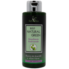 'Rebitalia' Bio Natural Green Nourishing Mask for Dry and Damaged Hair with Keratin, Aloe Vera, Pelargonium, Lavender Oil 250ml